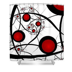 Fractal Balance Shower Curtain