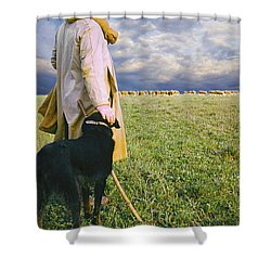 French Shepherd Shower Curtain by Chuck Staley