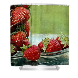 Fresh Berries Shower Curtain by Darren Fisher
