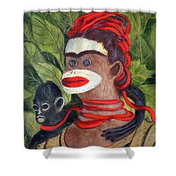 With Love To The Artist Frida Kahlo Shower Curtain