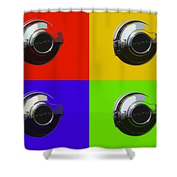 Fuel Cap In Bold Color Shower Curtain