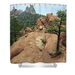 Garden Of The Gods At Daybreak Shower Curtain