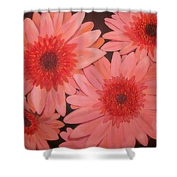 Shower Curtain featuring the painting Gerber Daisies by Sharon Duguay