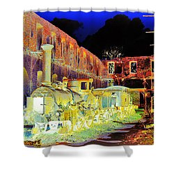 Ghost Train Shower Curtain by Chuck Staley