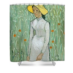 Girl In White Shower Curtain by Vincent van Gogh