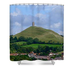 Glastonbury Tor Shower Curtain