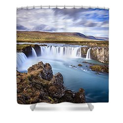 Godafoss Waterfall Shower Curtain