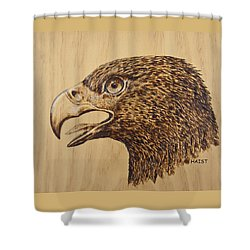 Golden Eagle Shower Curtain by Ron Haist
