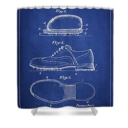 Golf Shoe Patent Drawing From 1931 Shower Curtain by Aged Pixel