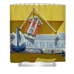 Gone To The Beach Shower Curtain