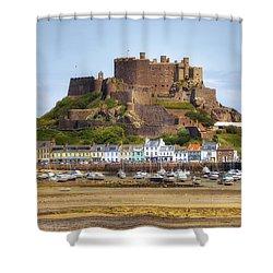 Gorey Castle - Jersey Shower Curtain by Joana Kruse