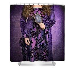 Gothic Woman Shower Curtain by Amanda Elwell