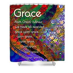 Grace Shower Curtain by Chuck Mountain