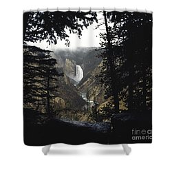 Grand Canyon Of The Yellowstone-signed Shower Curtain