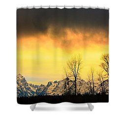 Shower Curtain featuring the photograph Grand Tetons Wyoming by Amanda Stadther