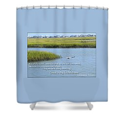 Great Is Thy Faithfulness Shower Curtain