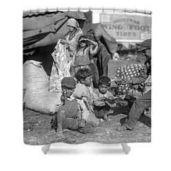 Shower Curtain featuring the photograph Gypsies, C1923 by Granger