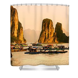 Halong Bay - Vietnam Shower Curtain by Luciano Mortula