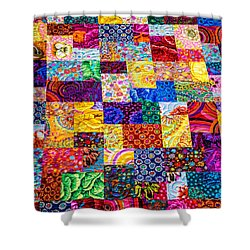 Hand Made Quilt Shower Curtain by Sherman Perry