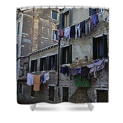 Hanging Out To Dry In Venice Shower Curtain