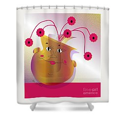 Happy Dance Shower Curtain by Iris Gelbart