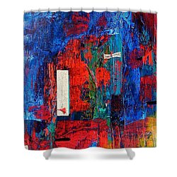 Shower Curtain featuring the painting Havasu Canyon by Carolyn Repka