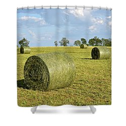 Hay Bales In Spring Shower Curtain