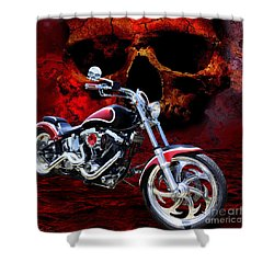 Heaven And Hell Shower Curtain