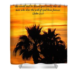 Heavenly Sunset Shower Curtain by Deb Halloran