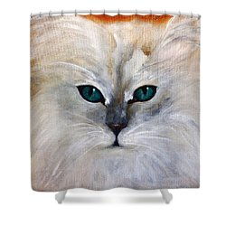 Shower Curtain featuring the painting Hemingway by Barbie Batson