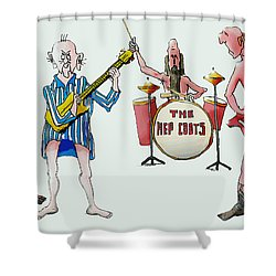 Sixties And Seventies Musicians Shower Curtain