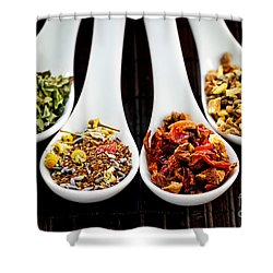 Herbal Teas Shower Curtain by Elena Elisseeva