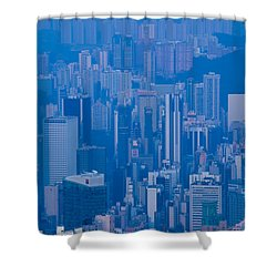 High Angle View Of Buildings Shower Curtain by Panoramic Images