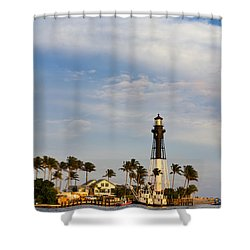 Hillsboro Inlet Lighthouse Shower Curtain by Les Palenik