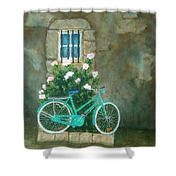 Home For Lunch In Rome Shower Curtain by Pamela Allegretto