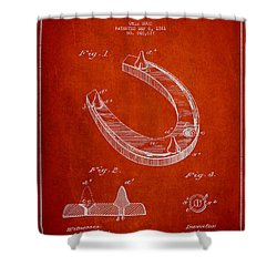 Horseshoe Patent Drawing From 1881 Shower Curtain by Aged Pixel