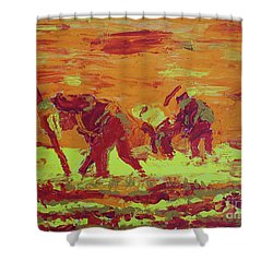 Hot Potatoes Shower Curtain