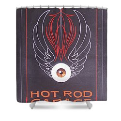 Hot Rod Garage Shower Curtain
