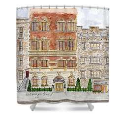 Hotel Washington Square Shower Curtain