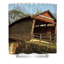 Humpback Covered Bridge Shower Curtain
