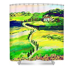 Shower Curtain featuring the painting Il Casale by Loredana Messina