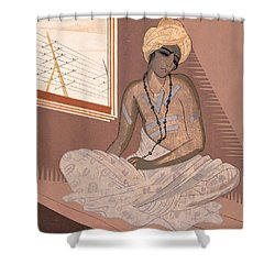 Illustration For Kim By Rudyard Kipling Shower Curtain by Francois-Louis Schmied