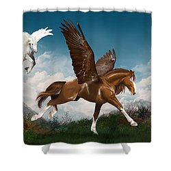 In A Hurry Shower Curtain by Kate Black