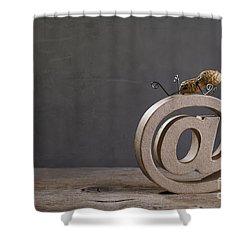 Internet Shower Curtain by Nailia Schwarz