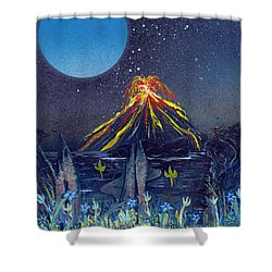 Shower Curtain featuring the painting Interruption by Jason Girard