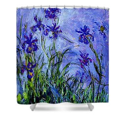 Shower Curtain featuring the painting Irises by Celestial Images