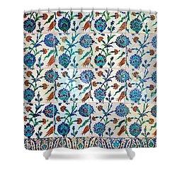 Iznik Ceramics With Floral Design Shower Curtain