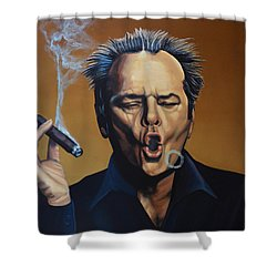 Jack Nicholson Painting Shower Curtain by Paul Meijering