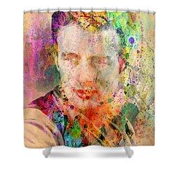 James Dean Shower Curtain by Mark Ashkenazi