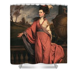 Jane Fleming, Later Countess Shower Curtain by Sir Joshua Reynolds